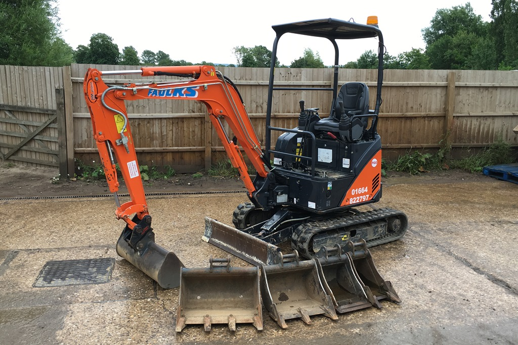 An exacavator available via our plant hire service in Derby