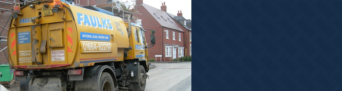 Heavy duty road sweeper hire from AE Faulks.