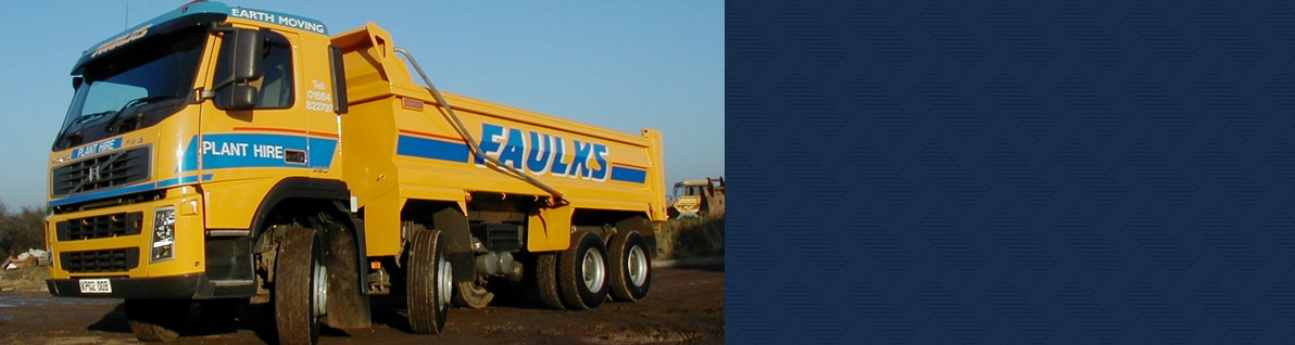 AE Faulks' wide range of haulage vehicles.
