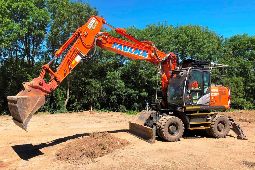 AE Faulks Excavator