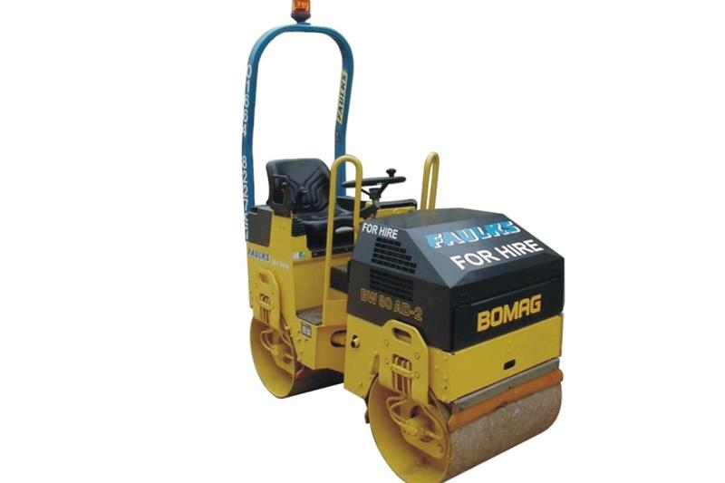 The Bomag BW80 tandem roller available to hire from AE Faulks