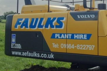 Close up Faulks Plant Hire