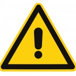 Blank Other Danger And Hazard Sign, isolated, black general warning triangle over yellow, large macro